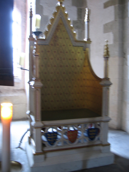 Replica of the Coronation chair, Tower of London