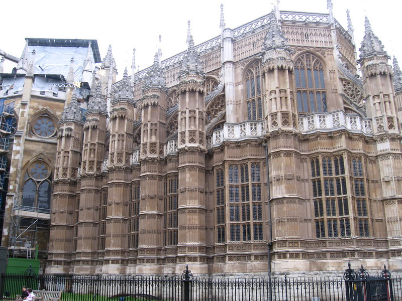 The exterior of Henry VII's Chapel, Westminster Abbey