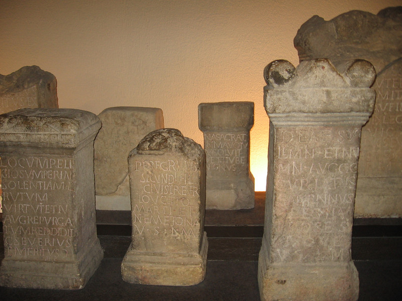 Roman tombstones, Roman Baths, Bath