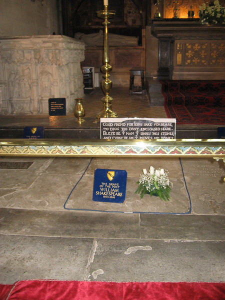 Shakespeare's grave, Holy Trinity Church, Stratford-on-Avon