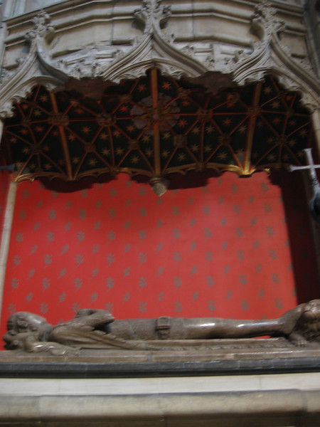 Tomb of Prince William son of Edward III and Phillipa of Hainault, York Minster