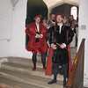 Actors portraying Henr VIII's courtiers, Hampton Court Palace
