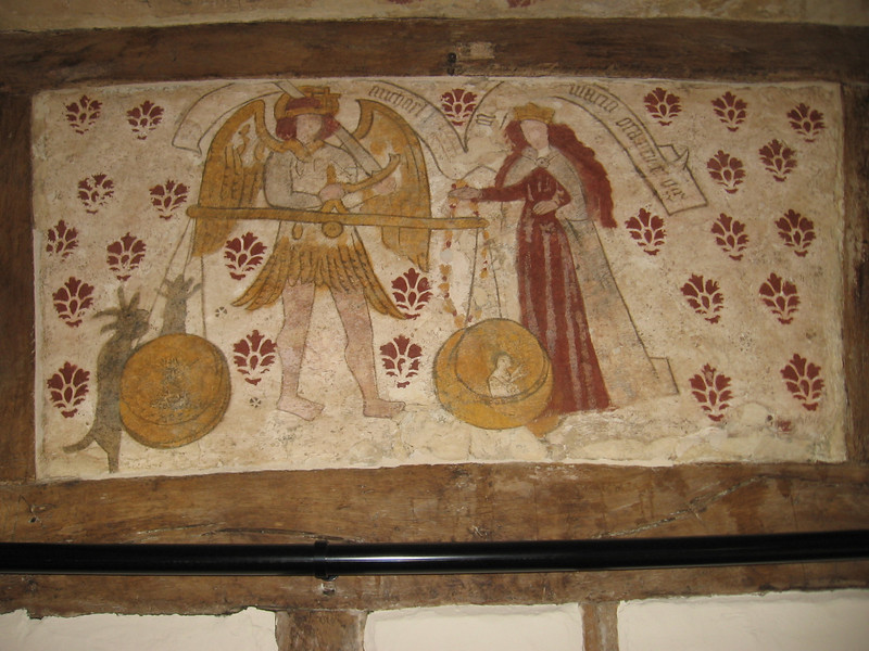 Wall painting, The Commandery, Worcester