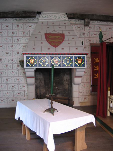 The bedchamber of Edward I in St. Thomas' Tower, Tower of London
