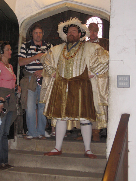 Actor portraying Henry VIII, Hampton Court Palace