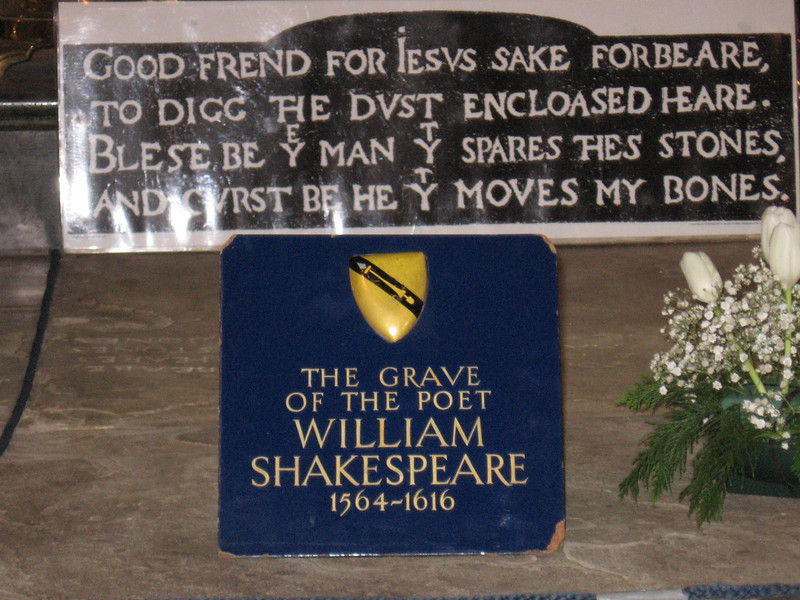 Shakespeare's grave, Holy Trinity Church, Stratford-on-Avon
