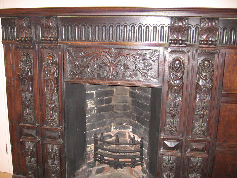 Fireplace at the Commandery, Worcester