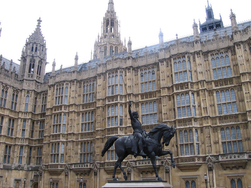 Statue of Richard the Lionhearted, Houses of Parliament, London
