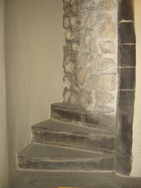 The stairs beneath which the skeletons thought to be those of Edward V and his brother Richard Duke of York were found, Tower of London