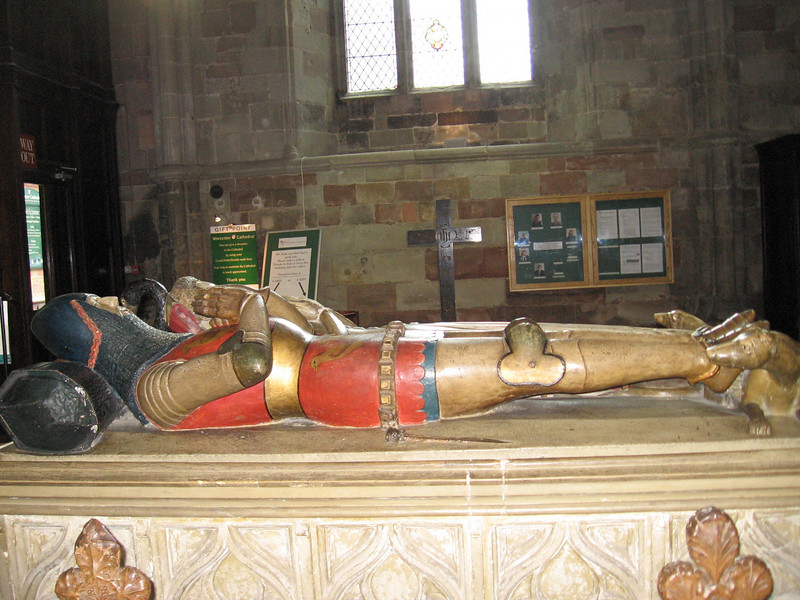 Tomb of Sir John Beauchamp of Holt and his wife Joan. He was a favorite of Richard II and was ordered executed by action of the Merciless Parliament of 1388, Worcester Cathedral
