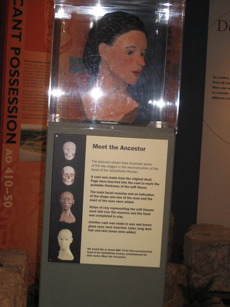 Head of Romano-British woman created from skull found in London, Museum of Londdon