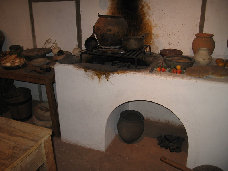 Recreation of Romano-British kitchen, Museum of London