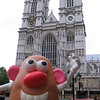 Mr. Potato Head at Westminster Abbey