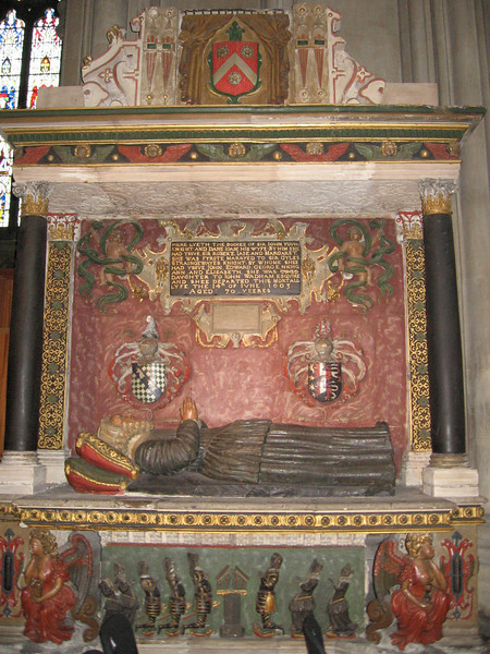 Tomb of Sir John Young and his wife Margaret, Bristol Cathedral Lady Margaret died in 1603 and was almost an exact contermporary of Queen Elizabeth I