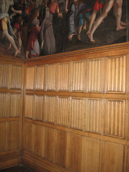 Paneling in Wolsey's private chamber, Hampton Court Palace