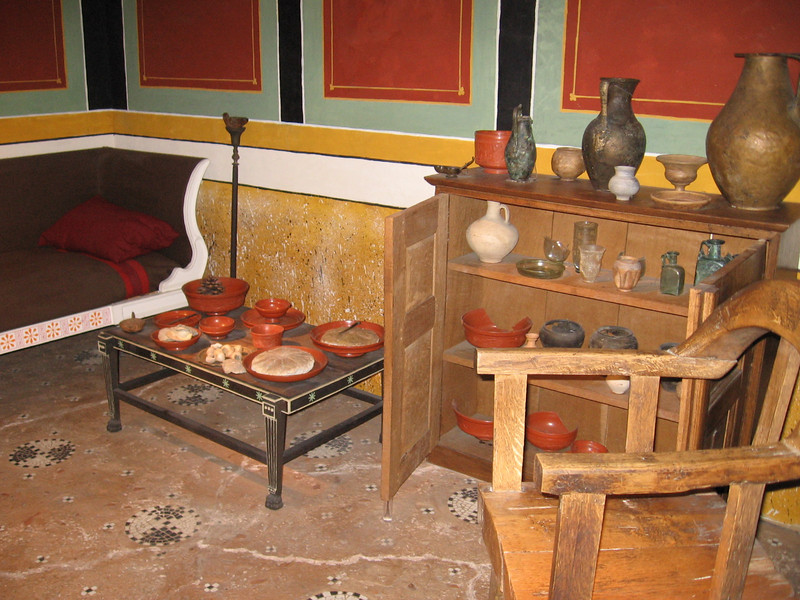 Recreation of Roman-British dining rool, Museum of London