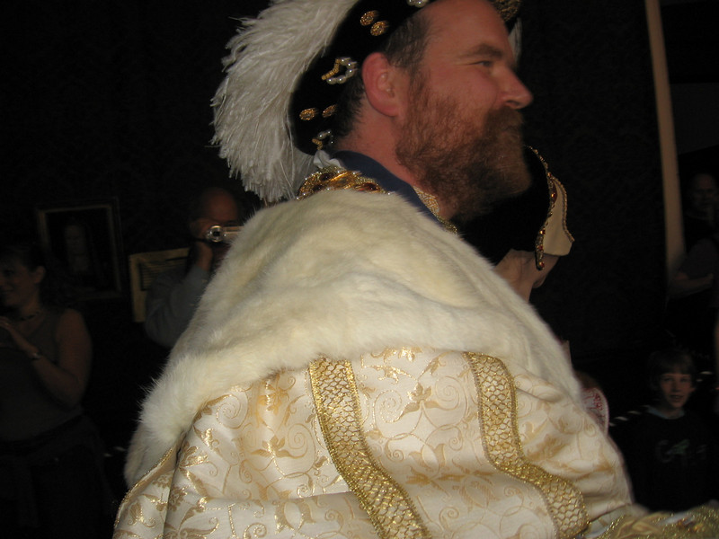 Actor portraying Henry VIII on the day of his wedding to Katherine Patt, Hampton Court Palace