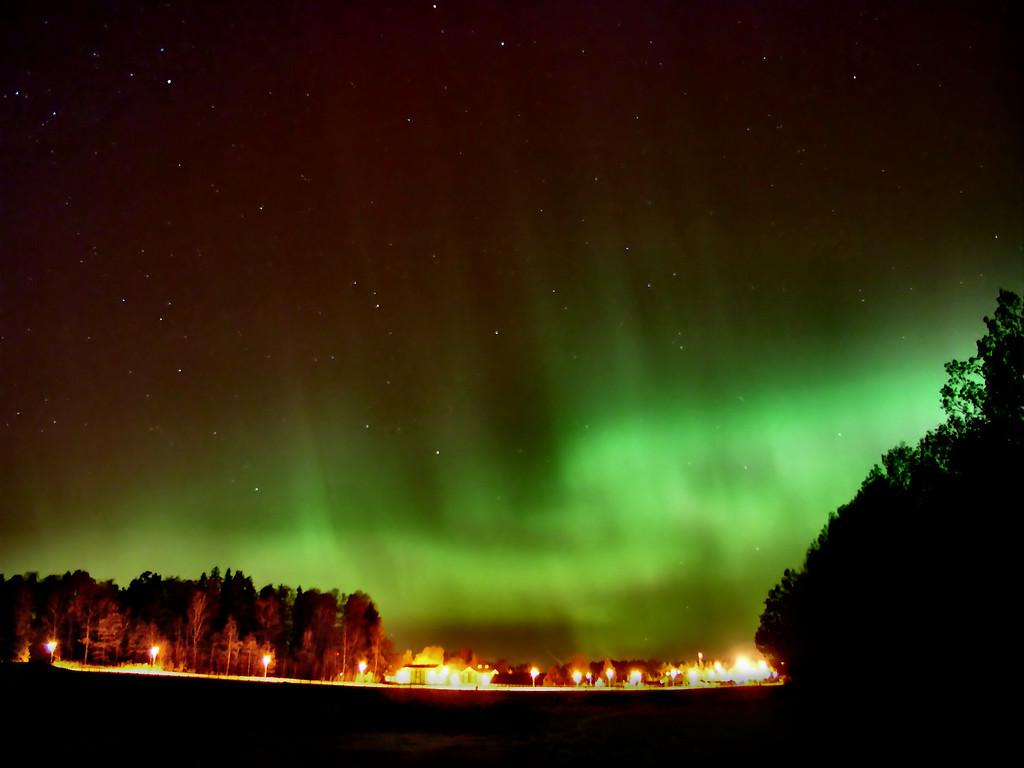 Norrsken över Valla, Linköping, November