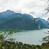 Blick über den Wolfgangsee beim Aufstieg auf das Zwölferhorn