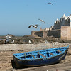Essaouira is a blue an white town, and all the small boats are blue