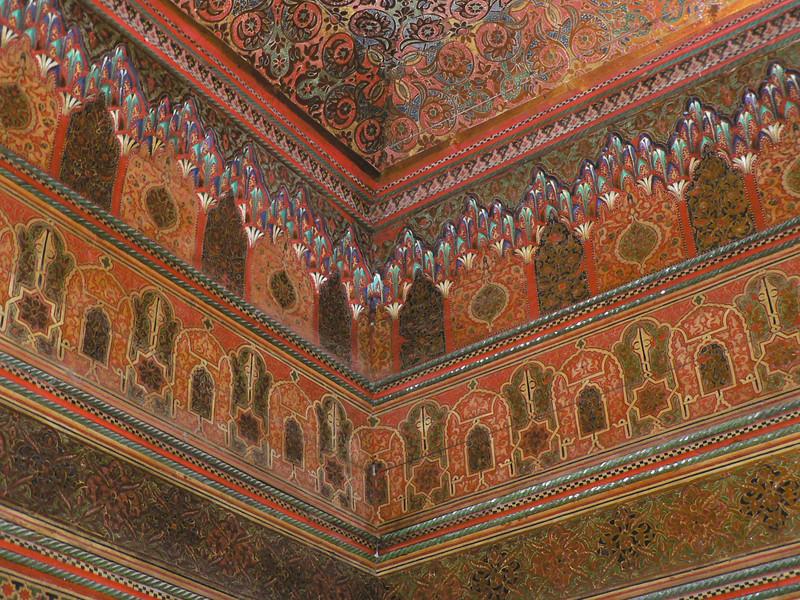 Detail of a ceiling, Palais de la Bahia