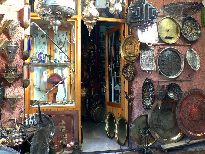 Typical souvenir shop in the medina