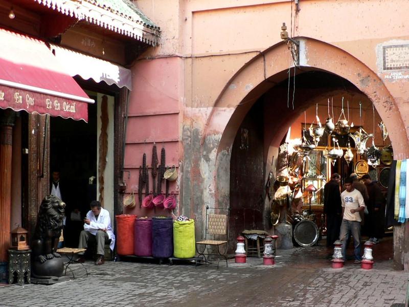 Typical street scene in the medina