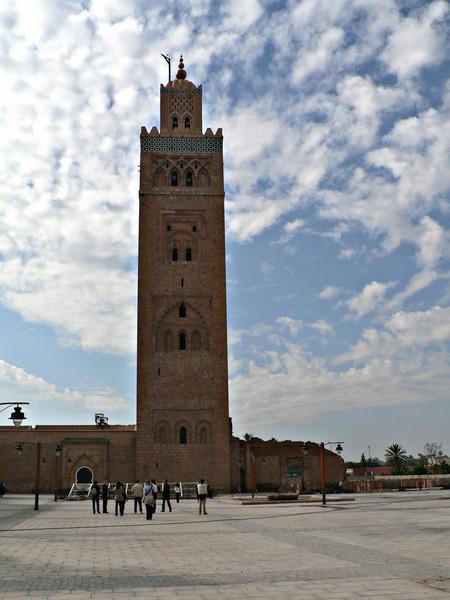 The Koutoubia minaret, a major landmark