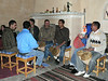 Evening drumming circle. Abdel, the Intrepid tour leader, is third from right