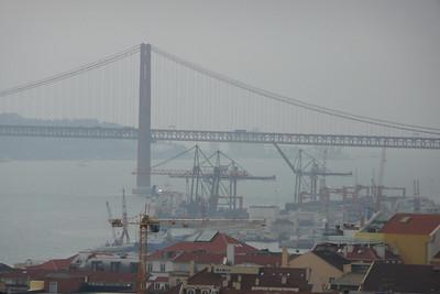 Ponte 25 de Abril Seen from Castelo de São Jorge