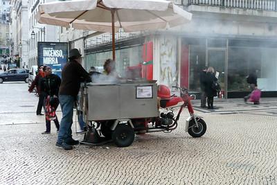 Chestnuts Vendor on Wheels