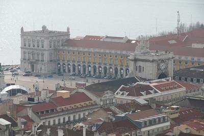 Praça do Comércio Seen from Castelo de São Jorge