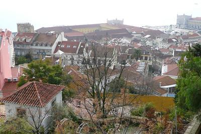 View of Baixa from Castelo de São Jorge