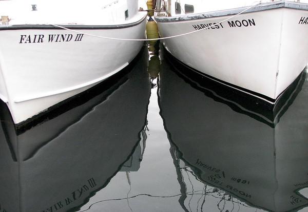 Two ships at harbor