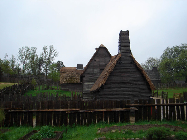 Typical housing for the English settlers
