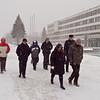 Kaunas. Walking to lunch.