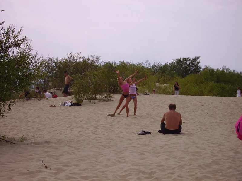 Dunes near Nida, not sure what was going on but these guys were dancing in their g-strings.