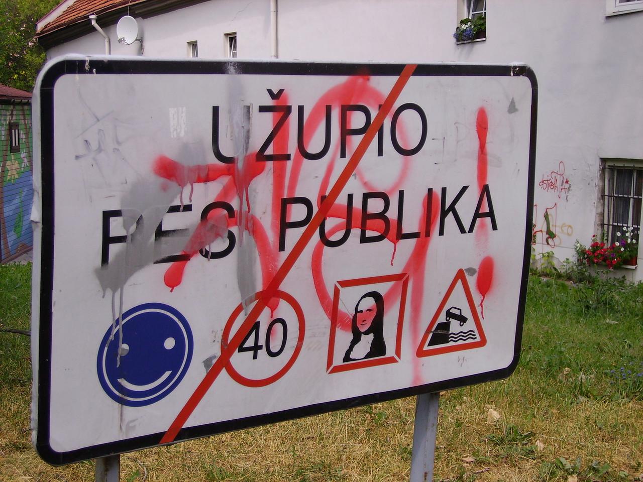 Uzupis is a breakaway state inside Vilnius.