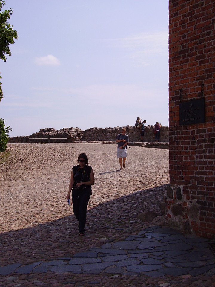 Hannah and Des at Vilnius Castle