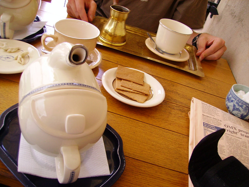 Tea and biscuits in Vilnius