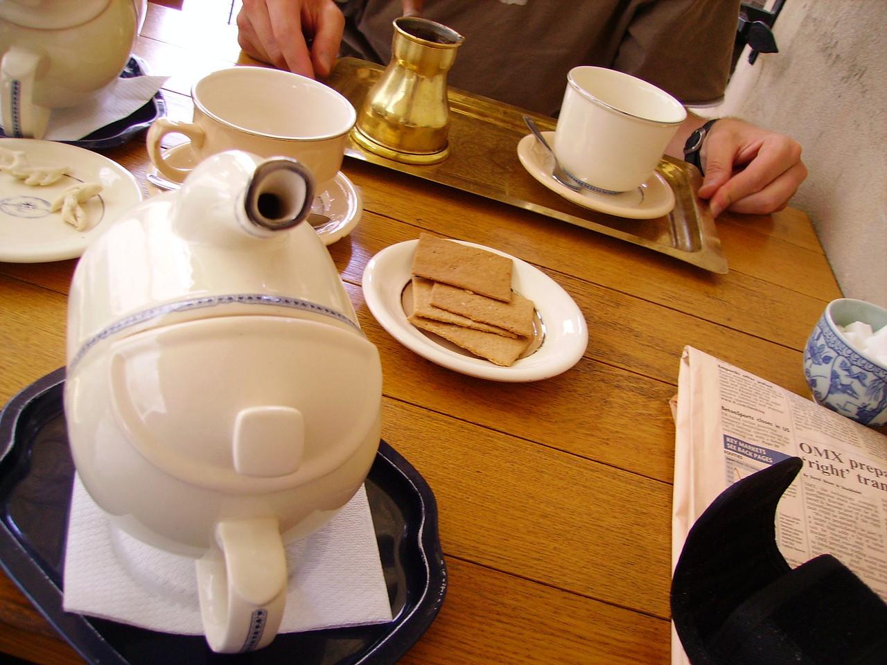 Tea and biscuits in Vilnius
