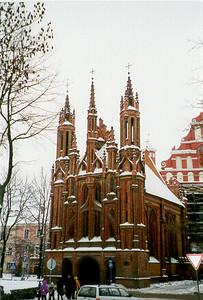 St. Anne's Church -- Vilnus, Lithuania