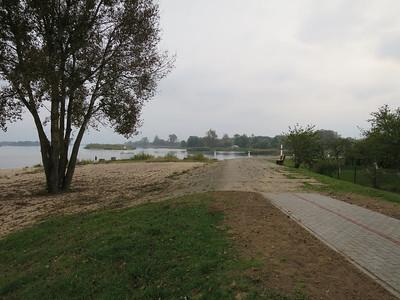 Vertakking in de rivier bij voormalig vissersdorp Ruß
