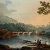 Llangollen Bridge and Castell Dinas Bran (Tomkins, 1802, British Library).