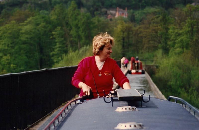 Jean on Pontcysyllte in 1996.