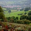 Llangollen from Castell Dinas Bran.