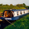 Peter and Jean's canal boat, the Countess, in 1996.