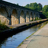 Chirk Aqueduct (1801, canal boats) and Chirk Viaduct (1840, trains).
