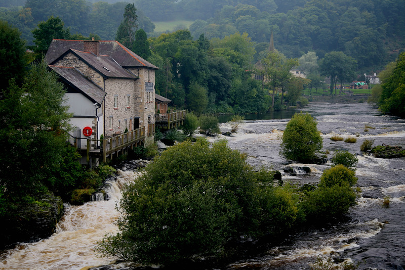 River Dee and Old Corn Mill, Llangollen.