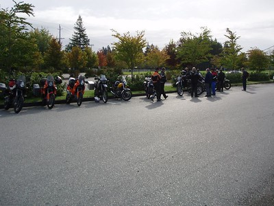 The rest of the riders ready to take off for 3 days of fun.